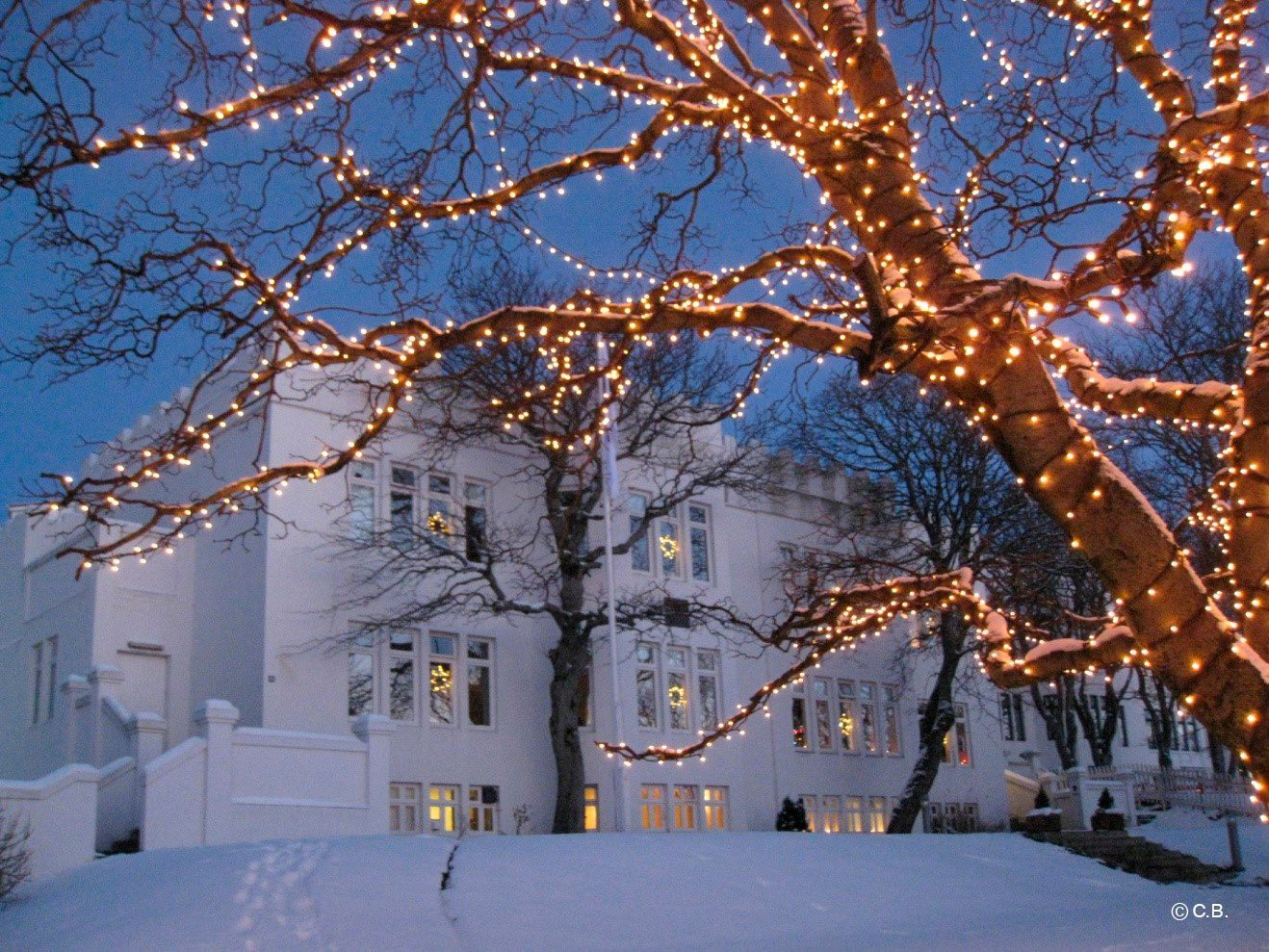 Reykjavik im Winterkleid