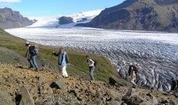 Wandern am Gletscherrand