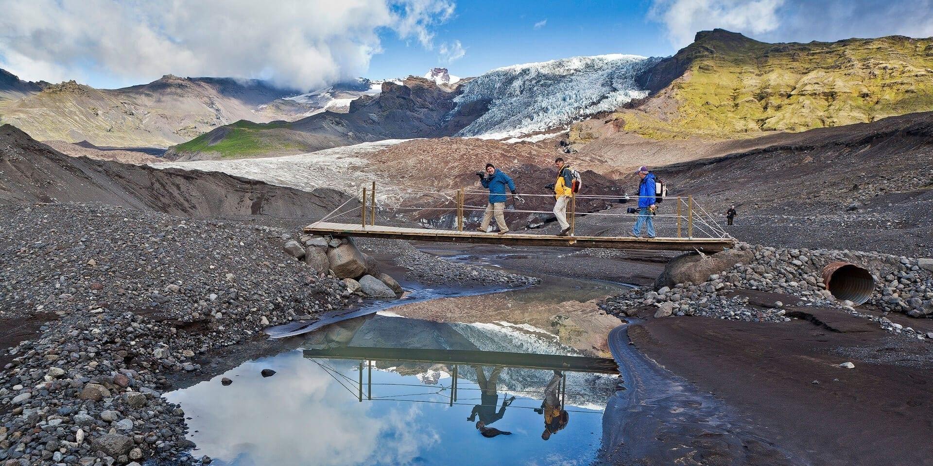 Wandern am Gletscher Virkisjökull