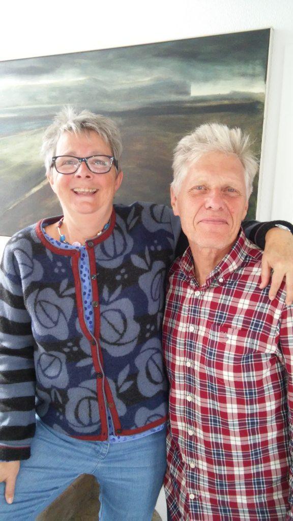 Jutta und Hans bei uns im Büro zu Besuch