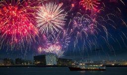 Feuerwerk über Reykjavik
