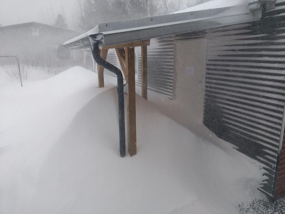 Schnee Heragerði Photo: Dörthe